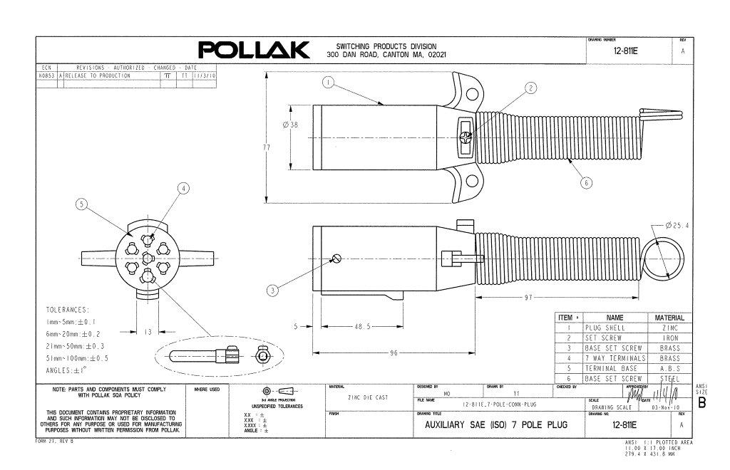 phillips trailer 7 wire cable wiring diagram schematic