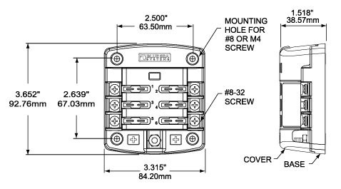78154 Dimensions blue sea systems 5028 st blade fuse block waytek wire blue sea 5026 wiring diagram at fashall.co