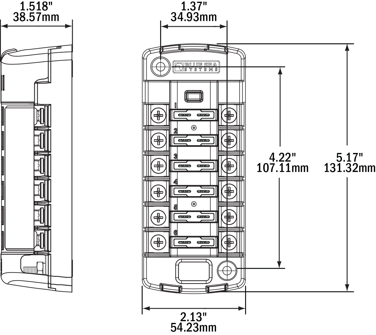 78156 Dimensions blue sea systems 5035 st blade fuse block waytek wire marine fuse block wiring diagram at n-0.co