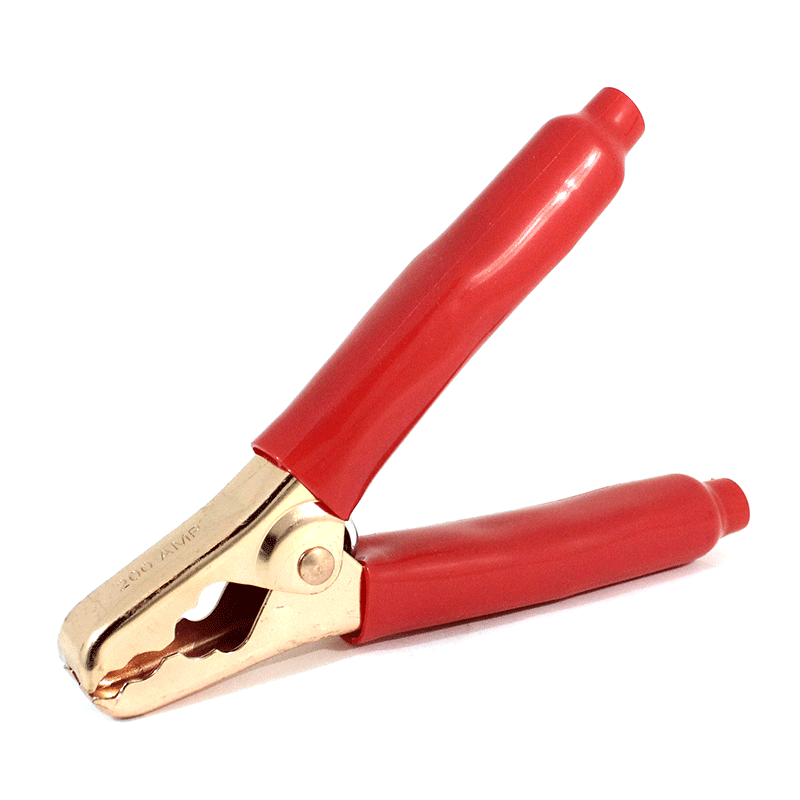 BATTERY CLAMP RED INSULATED HANDLES 200 AMPS - 41R
